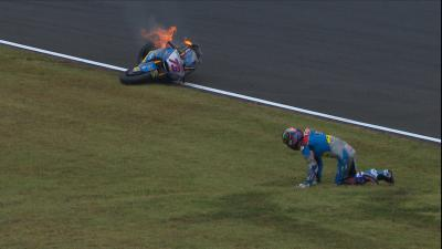 Free video: Alex Marquez suffers heavy FP1 crash