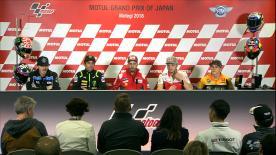 La prima fila della griglia di partenza della classe regina e gli uomini in pole della Moto2™ e Moto3™ commentano il loro grande sabato