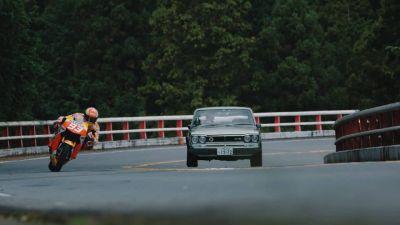 Ahead of the #JapaneseGP, Marc Márquez enjoyed a ride through
