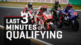 Watch the un-missable final 3 minutes of MotoGP™ qualifying as Marquez, Dovi, Miller, Crutchlow and Zarco all took their shots at pole