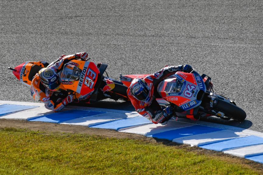 Andrea Dovizioso, Ducati Team, Marc Marquez, Motul Grand Prix of Japan