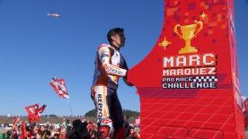 After the decisive race at the Twin Ring Motegi, Marc Marquez celebrated his 7th title in a way only the Number 93 could