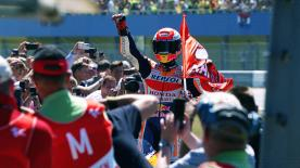 Marc Marquez was crowned the 2018 MotoGP? World Champion in Motegi. Take a look at his highlights from this year