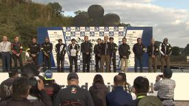 The presidents of Honda, Yamaha, Suzuki and Ducati welcomed motorcycle fans for the annual parade between Motegi and the Twin Ring circuit