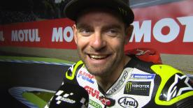 Crutchlow finished second at Motegi, taking advantage of the situation