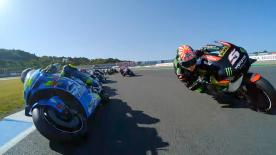 Enjoy the MotoGP? race start from the point of view of the riders.