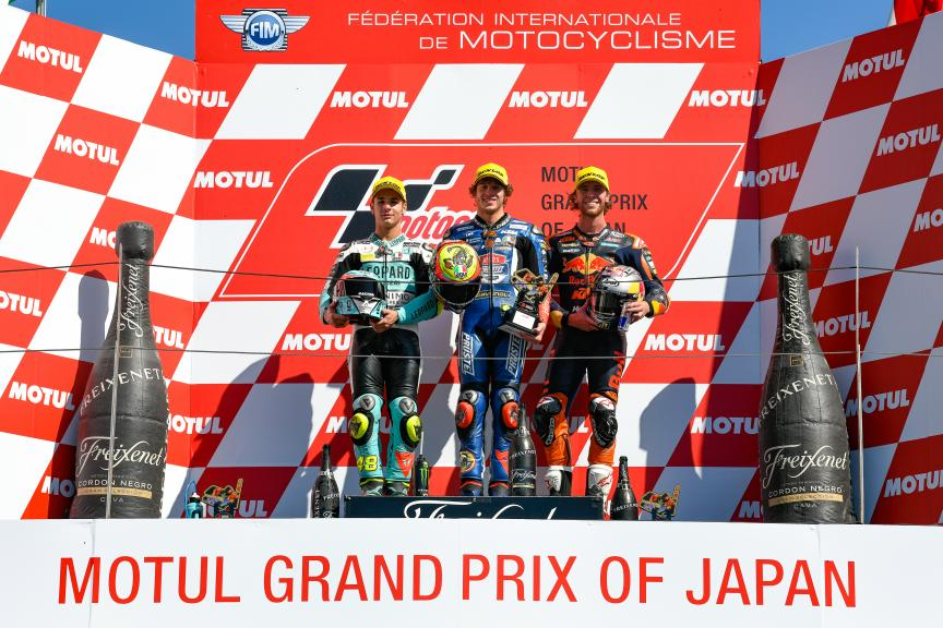 Marco Bezzecchi, Lorenzo Dalla Porta, Darryn Binder, Motul Grand Prix of Japan