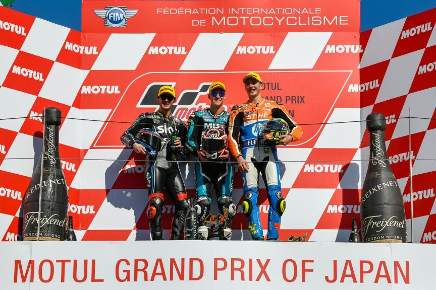 Fabio Quartararo, Francesco Bagnaia, Lorenzo Baldassarri, Motul Grand Prix of Japan