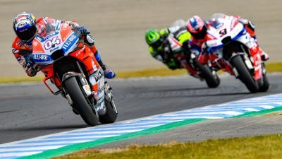 Dovizioso, Marquez, Crutchlow the top three in Warm Up