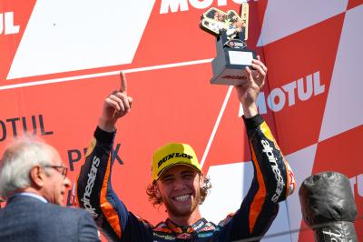Binder claims unforgettable first podium