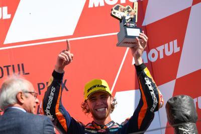 Binder claims unforgettable first podium