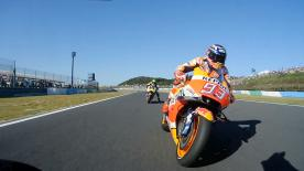 Watch the Repsol Honda rider make a sensational pass on Dovizioso during the Japanese GP