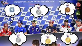 Miller, Crutchlow, Marquez, Rossi, Rins and Bautista answer YOUR questions from Social Media