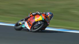 The Red Bull KTM Ajo rider was fastest at the end of the day ahead of Marcel Schrotter and Mattia Pasini