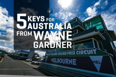 Las 5 claves del día en Australia... por Wayne Gardner