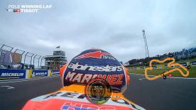 Relive The Repsol Honda rider's pole-winning lap at Phillip Island!