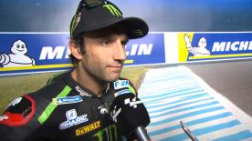 The French rider explained that the mixed conditions had knocked his confidence but he posted the third fastest time of the day regardless