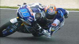 The Del Conca Gresini rider secured his 10th pole postion of the season, ahead of Binder and Sasaki