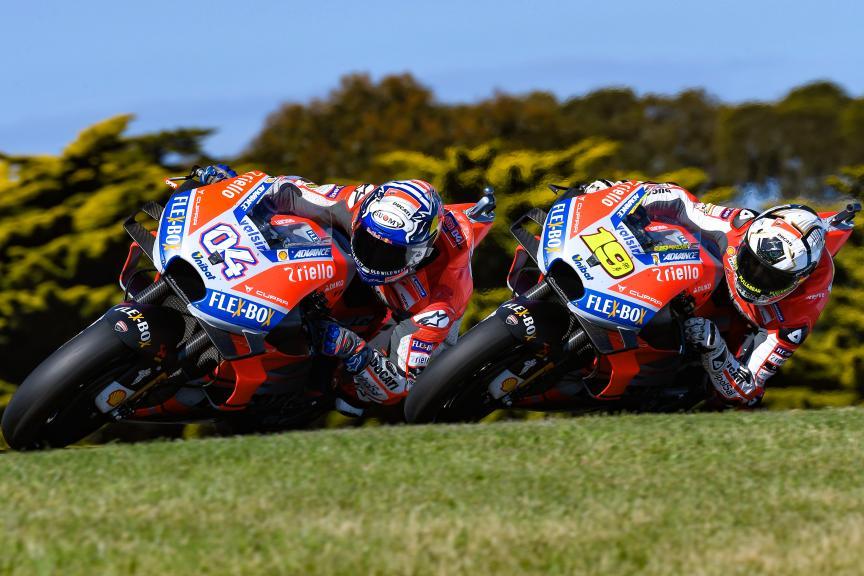 Andrea Dovizioso, Ducati Team, Alvaro Bautista,Ducati Team, Michelin® Australian Motorcycle Grand Prix