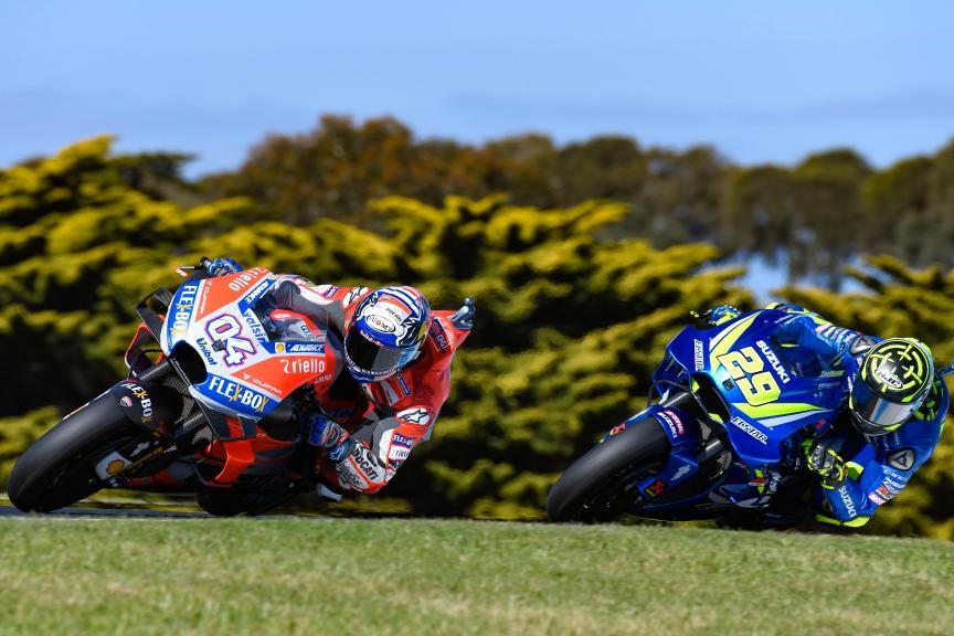 Andrea Dovizioso, Ducati Team, Andrea Iannone, Team Suzuki Ecstar, Michelin® Australian Motorcycle Grand Prix