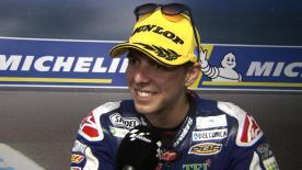 Fabio Di Giannantonio von Del Corsa Gresini Moto3 hat sich mit P2 in den Titelkampf gebracht