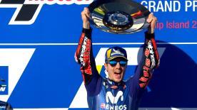 Viñales chiude il GP in Australia davanti a Iannone e Dovizioso. Un anno e mezzo di digiuno finisce. Rossi sesto, Bautista per il podio