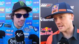We catch up with the MotoGP™ riders to get their thoughts after the thrilling race at Phillip Island