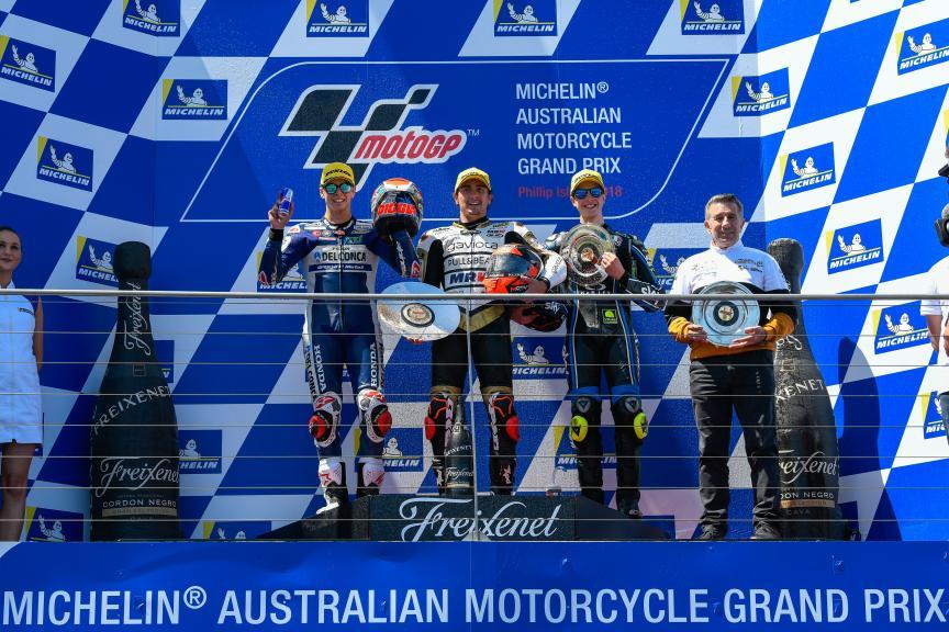 Albert Arenas, Fabio Di Giannantonio, Celestino Vietti, Michelin® Australian Motorcycle Grand Prix