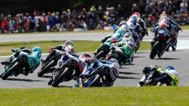 The full race session of the Moto3? World Championship at the Michelin? Australian Motorcycle Grand Prix at Phillip Island