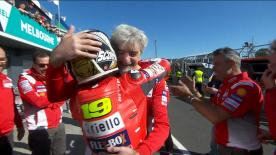 Replacing injured Lorenzo, the Spaniard produced a phenomenal ride on board the factory Ducati in Australia to finish a season's best P4