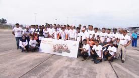 Marquez and Pedrosa taught students from across Sepang the importance of safety gear and safe riding, during the Team's day in Sepang