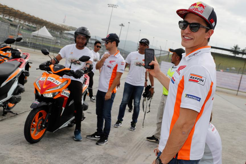 Repsol Honda Team riders, safe riding in Malaysia