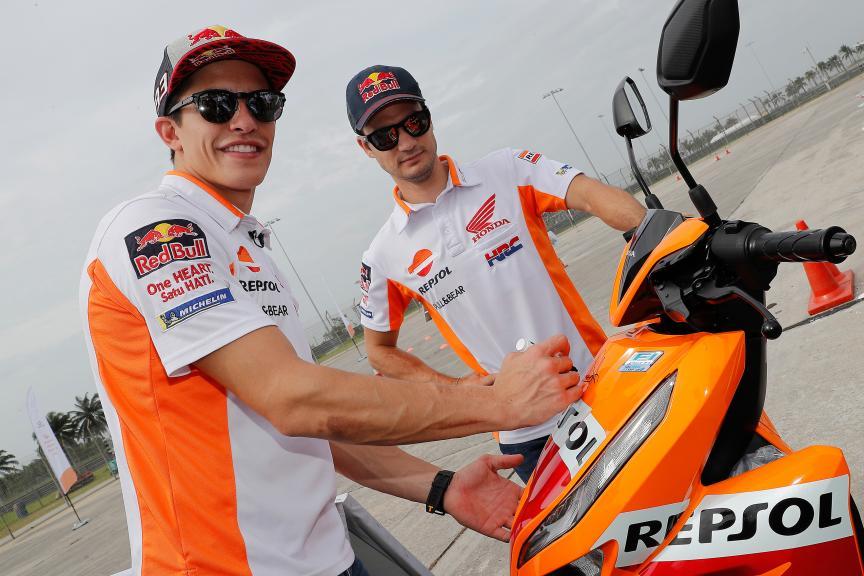 Repsol Honda Team riders, safe riding in Malaysia