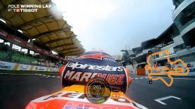 Vuelve a ver la vuelta clasificatoria del piloto del equipo Marc Márquez en Sepang