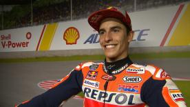 Marquez secured pole position at Sepang, putting in a lap over half a second faster than the rest, despite a crash!