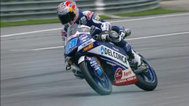 Jorge Martin took the pole at Sepang, just 0.03 faster than his Championship rival, Marco Bezzecchi. Tony Arbolino completes the front row