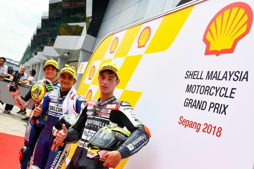 Jorge Martin, Marco Bezzecchi, Tony Arbolino, Shell Malaysia Motorcycle Grand Prix