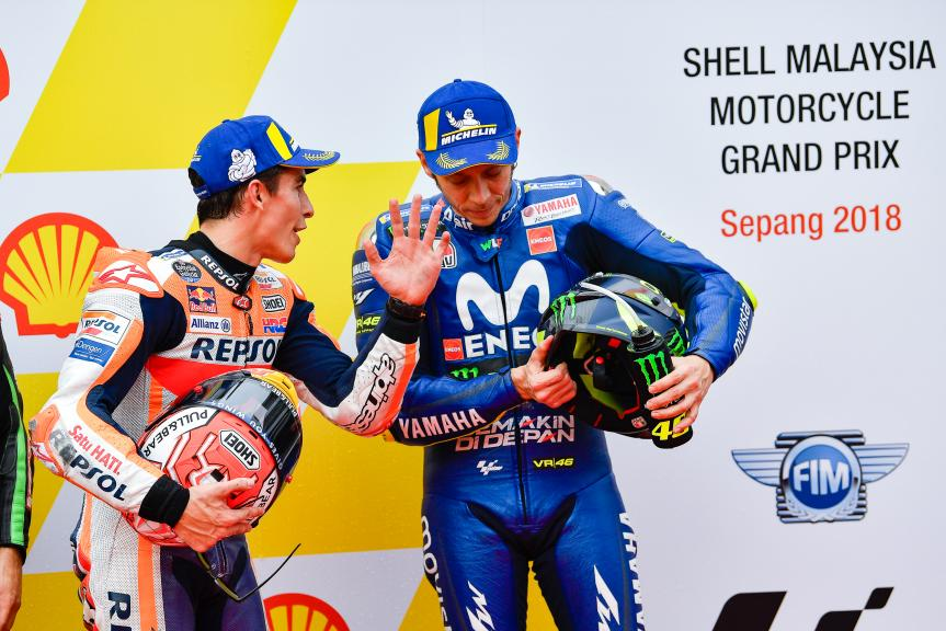 Marc Marquez, Valentino Rossi, Shell Malaysia Motorcycle Grand Prix