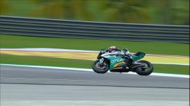 The home rider jumps on the MotoE? machine. The FIM Enel MotoE? World Cup will start in 2019. See how the bike handles at Sepang