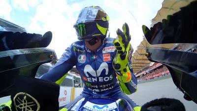 Apart from the crash, I've never seen @ValeYellow46 so consistent.
