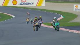 Watch the Moto3™ Warm Up session ahead of the main event at the Shell Malaysia Motorcycle Grand Prix