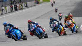 The full Moto2™ race at the Shell Malaysia Motorcycle Grand Prix at the Sepang International Circuit
