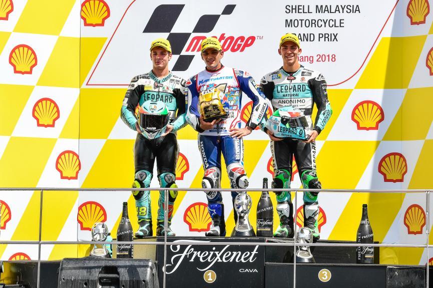 Jorge Martin, Lorenzo Dalla Porta, Enea Bastianini, Shell Malaysia Motorcycle Grand Prix