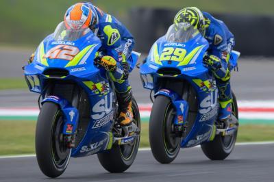 Rins, Iannone e Suzuki, che finale!