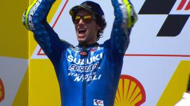 Secondo a Sepang, ancora a podio e pilastro portante del progetto Suzuki. Rivivi il GP in Malesia del numero 42