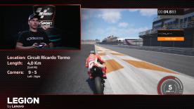 Watch the demonstration lap of Jorge Lorenzo and Ducati Team taking on the final track – the one that will crown the 2018 MotoGP™ eSport Word Champion