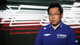 Kouji Tsuya, Yamaha's Group Leader, talks about problems faced by the Iwata Factory and lays out the objectives for the Valencia test & 2019