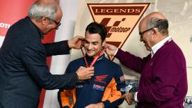 The World Champion and MotoGP™ veteran receives recognition, leaving a permanent mark on the MotoGP™ world