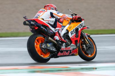 Marquez quickest in red-flagged FP1 in Valencia