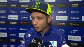 Finishing outside the top 10 in FP1 but third in FP2, what happened to Rossi at the Circuit Ricardo Tormo in the wet? The Doctor explains